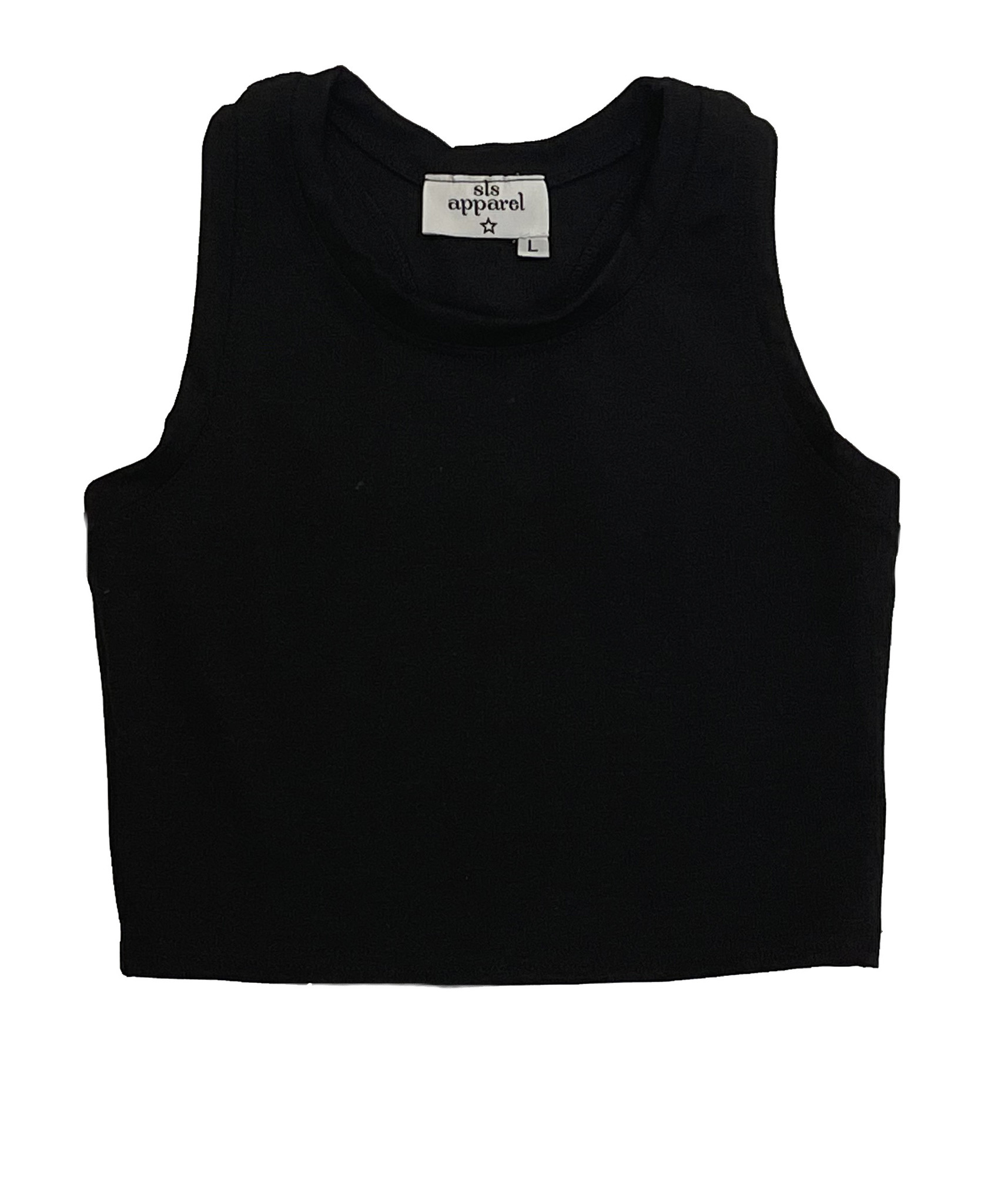 SLS Black Cropped Tank Top