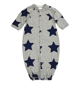 Little Mish Grey/Lg Navy Star Converter Gown