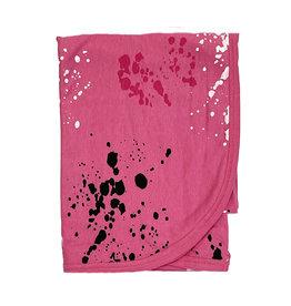 Little Mish Pink Splatter Blanket