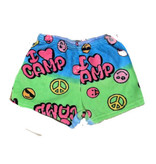 Love & Kisses I Love Camp Plush Shorts