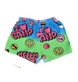 Love & Kisses I Love Camp Plush Shorts