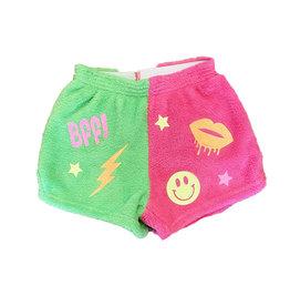 Love & Kisses Pink/Green BFF Plush Shorts