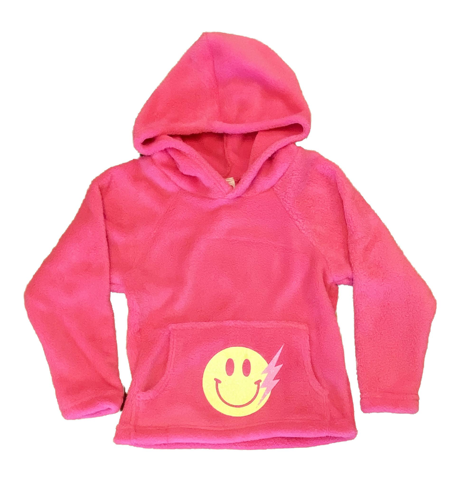 Love & Kisses Pink Smiley Bolt Pullover