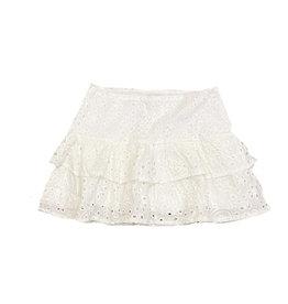 Katie J NYC White Eyelit Skirt
