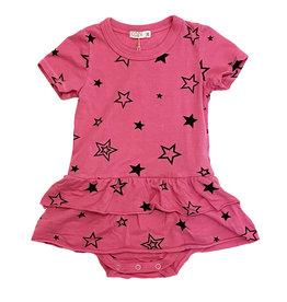 Cozii Hot Pink Stars Onesie Dress