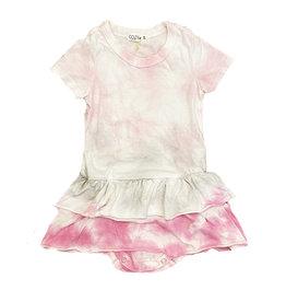 Cozii Pink/Grey TD Infant Onesie Dress