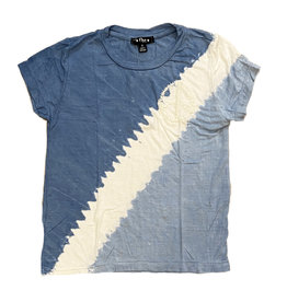 Flowers by Zoe Blue Diagonal Peace Stitch Tee