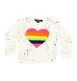 Flowers by Zoe Neon Splatter Heart Infant Sweatshirt