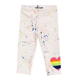 Flowers by Zoe Neon Splatter Heart Leggings