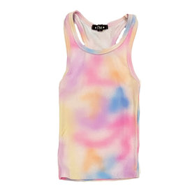 Flowers by Zoe Paint Spray Rib Tank Top