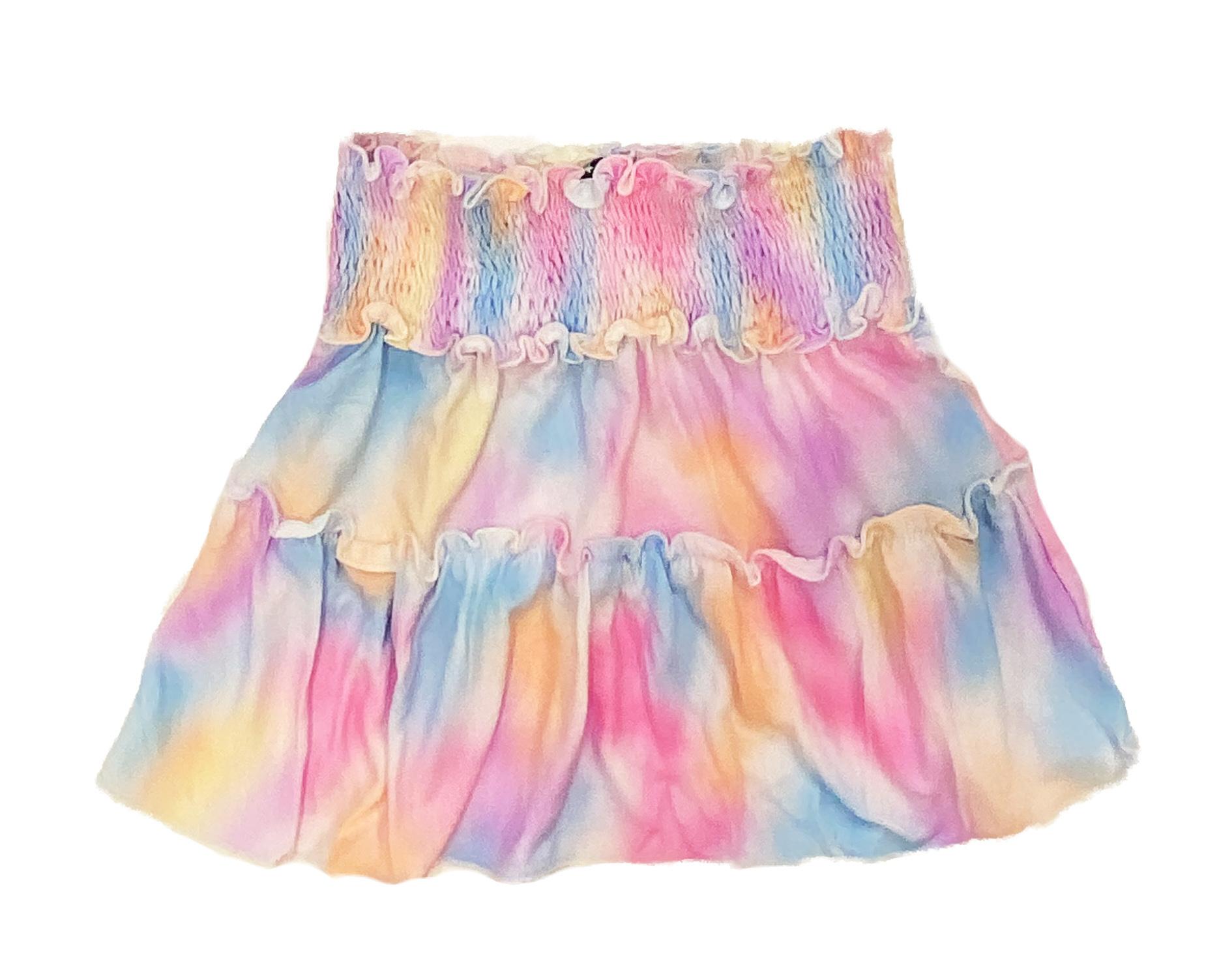 Flowers by Zoe Paint Spray Skirt
