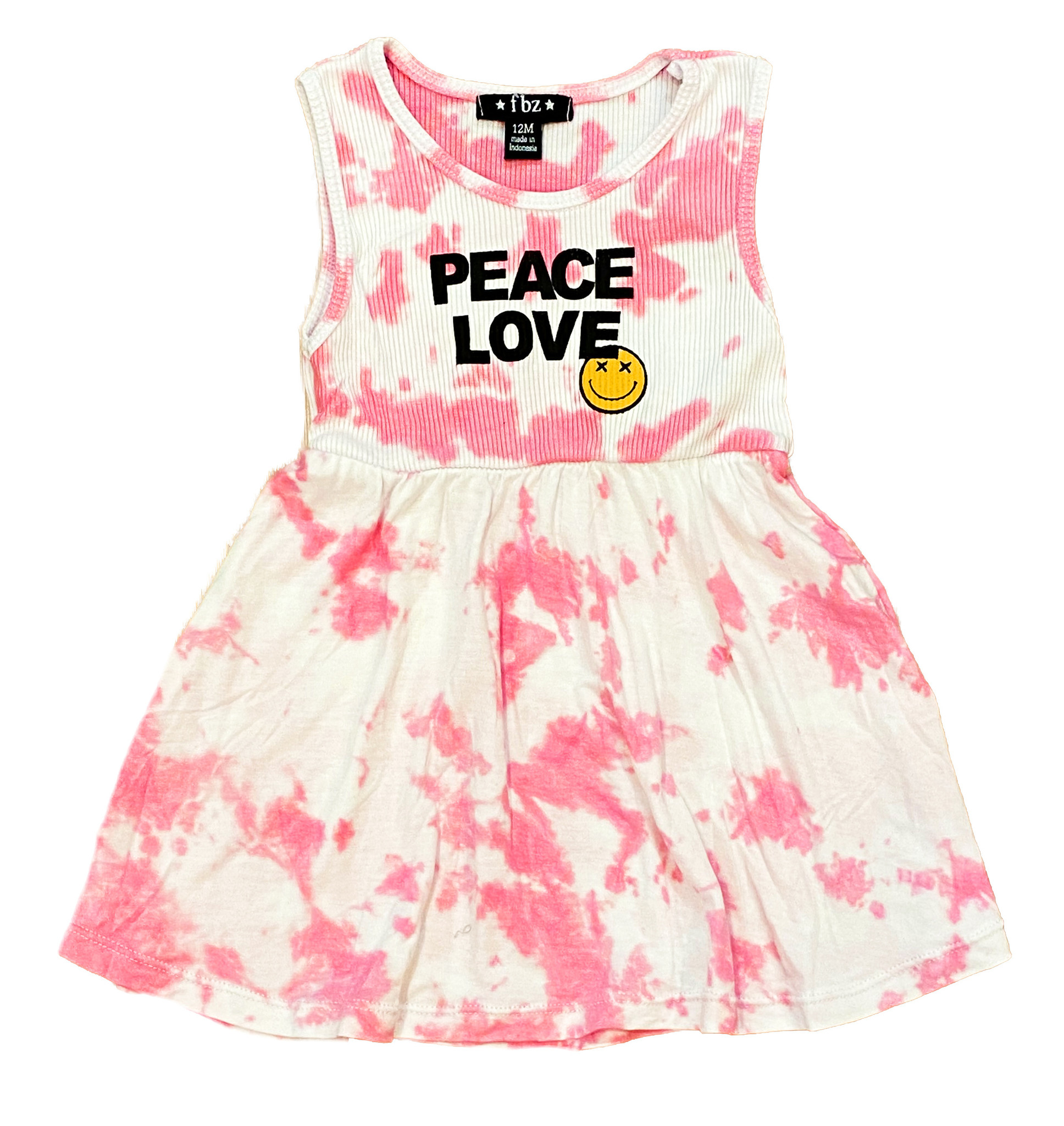 Flowers by Zoe Pink TD Peace/Love Infant Dress
