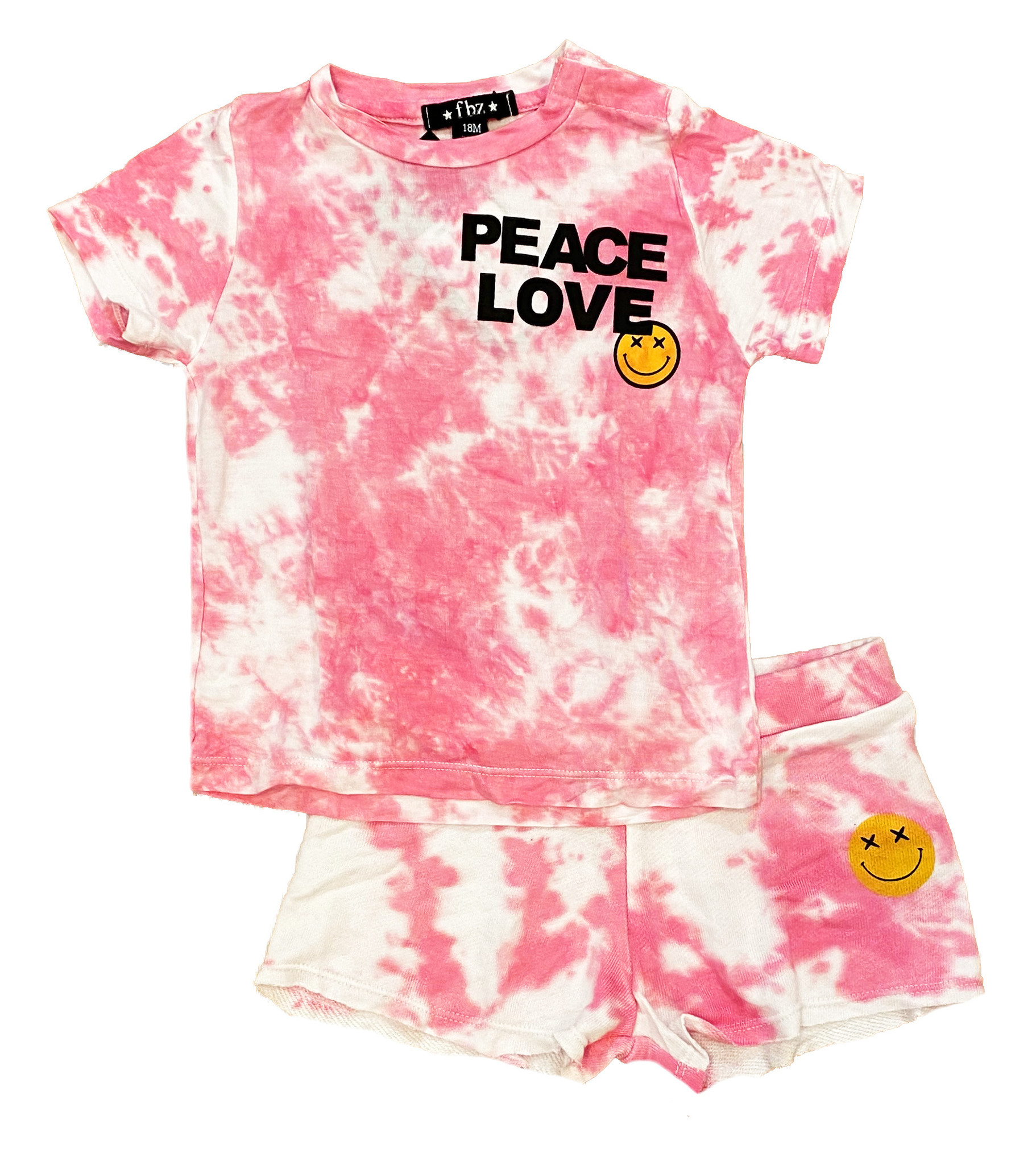 Flowers by Zoe Pink TD Peace/L Short Set Toddler
