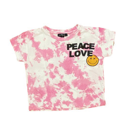 Flowers by Zoe Pink TD Peace Love Tee