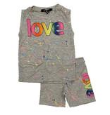 Flowers by Zoe Grey Splat Love Infant Short Set