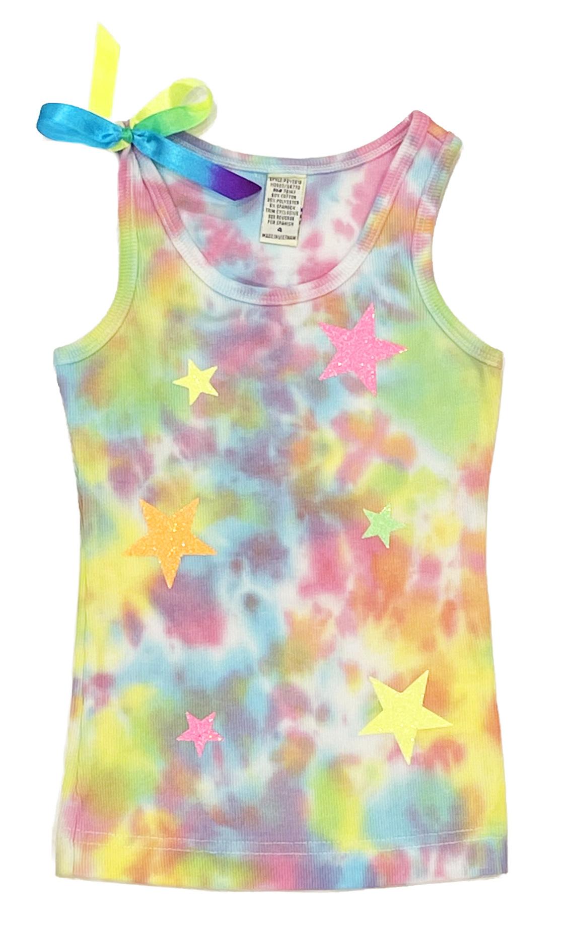 Glitter Stars Tie Dye Infant Tank Top