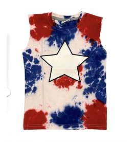 Mish Red/Blue TD Star Muscle Tank Top