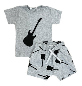Little Mish Grey/Black Guitars Short Set