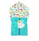 Baby Jar Traffic Jam Hooded Towel