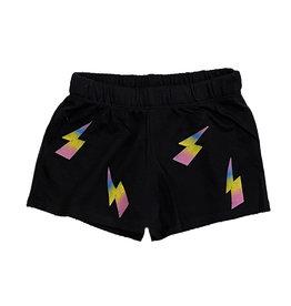Firehouse Black Ombre Bolt Sweat Shorts