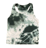 Firehouse Green Cloud Ribbed Tank w/ Small Peace