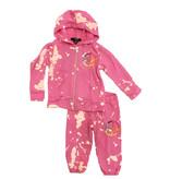 Flowers By Zoe Pink Bleach Peace Toddler Sweatsuit
