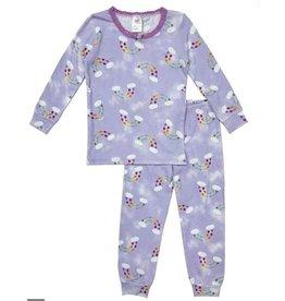 Esme Violet Heart Rainbow Infant PJ Set