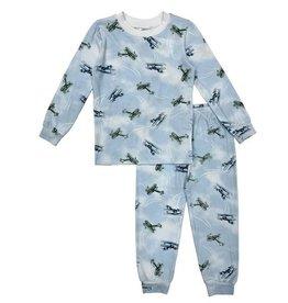 Esme Blue Retro Planes Infant PJ Set