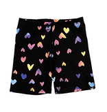 Social Butterfly Rainbow Hearts Bike Shorts