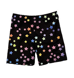 Social Butterfly Rainbow Stars Bike Shorts