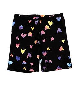 Social Butterfly Rainbow Hearts Infant Bike Shorts