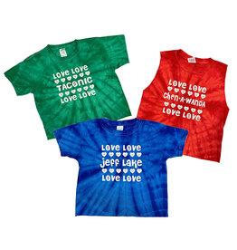 Hearts Tie Dye Custom Camp Tee
