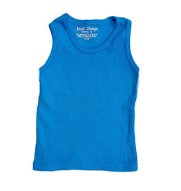 Small Change Turquoise Ribbed Tank Top