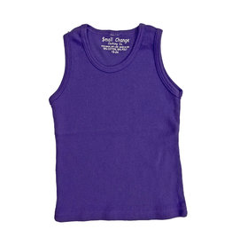 Small Change Purple Ribbed Tank Top