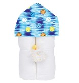 Baby Jar Blue TD Smiley Towel Set