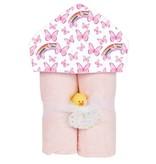 Baby Jar Pink Butterfly Towel Set