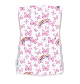 Baby Jar Pink Butterfly Burp Cloth