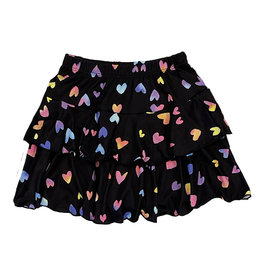 Social Butterfly Rainbow Hearts Skirt