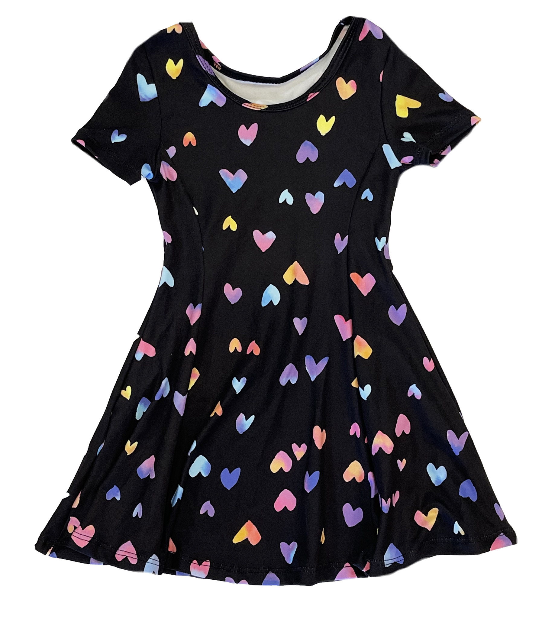 Social Butterfly Rainbow Hearts Infant Dress