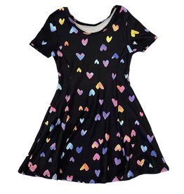Social Butterfly Rainbow Hearts Dress