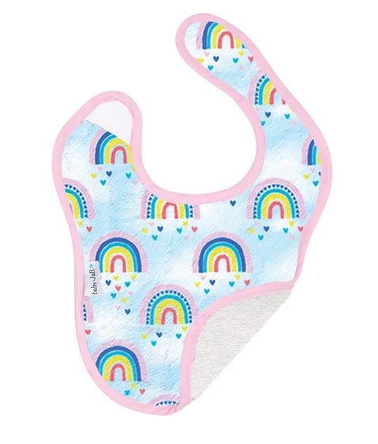 Baby Jar Rainbow Hearts Bib