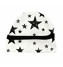 Too Cute Creamy Black Stars Hat