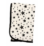 Too Cute Creamy Black Stars Blanket