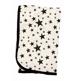 Too Cute Creamy Black Stars Blanket