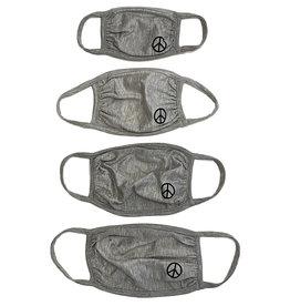 Sofi Grey w Black Peace Mask - 4 sizes