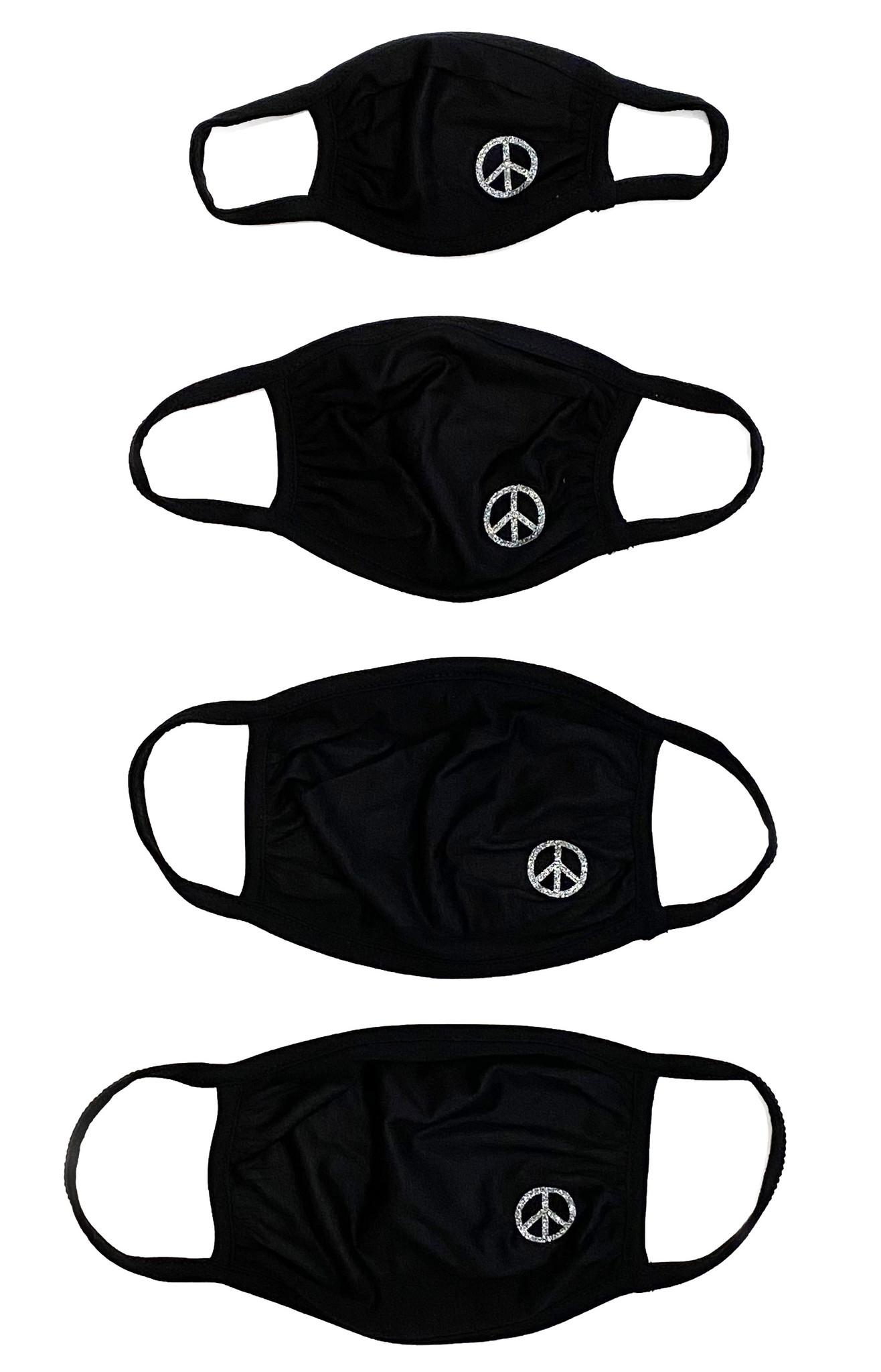 Sofi Black w Silver Peace Mask - 4 sizes