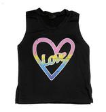 Firehouse Black Love in Heart Tank Top