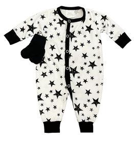 Too Cute Creamy Black Stars Outfit w/Socks