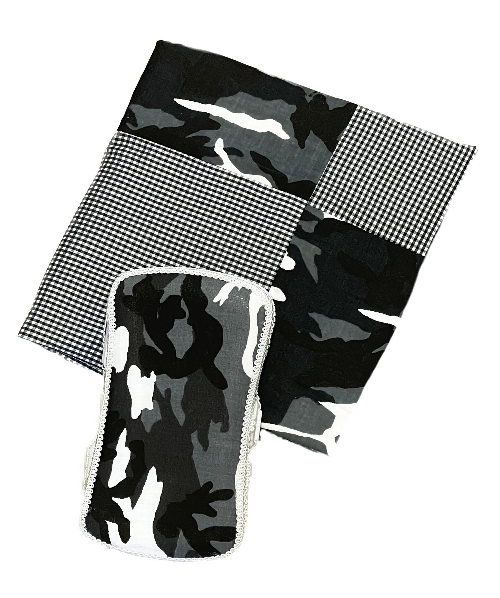 Amy's Black/Grey Camo Blanket