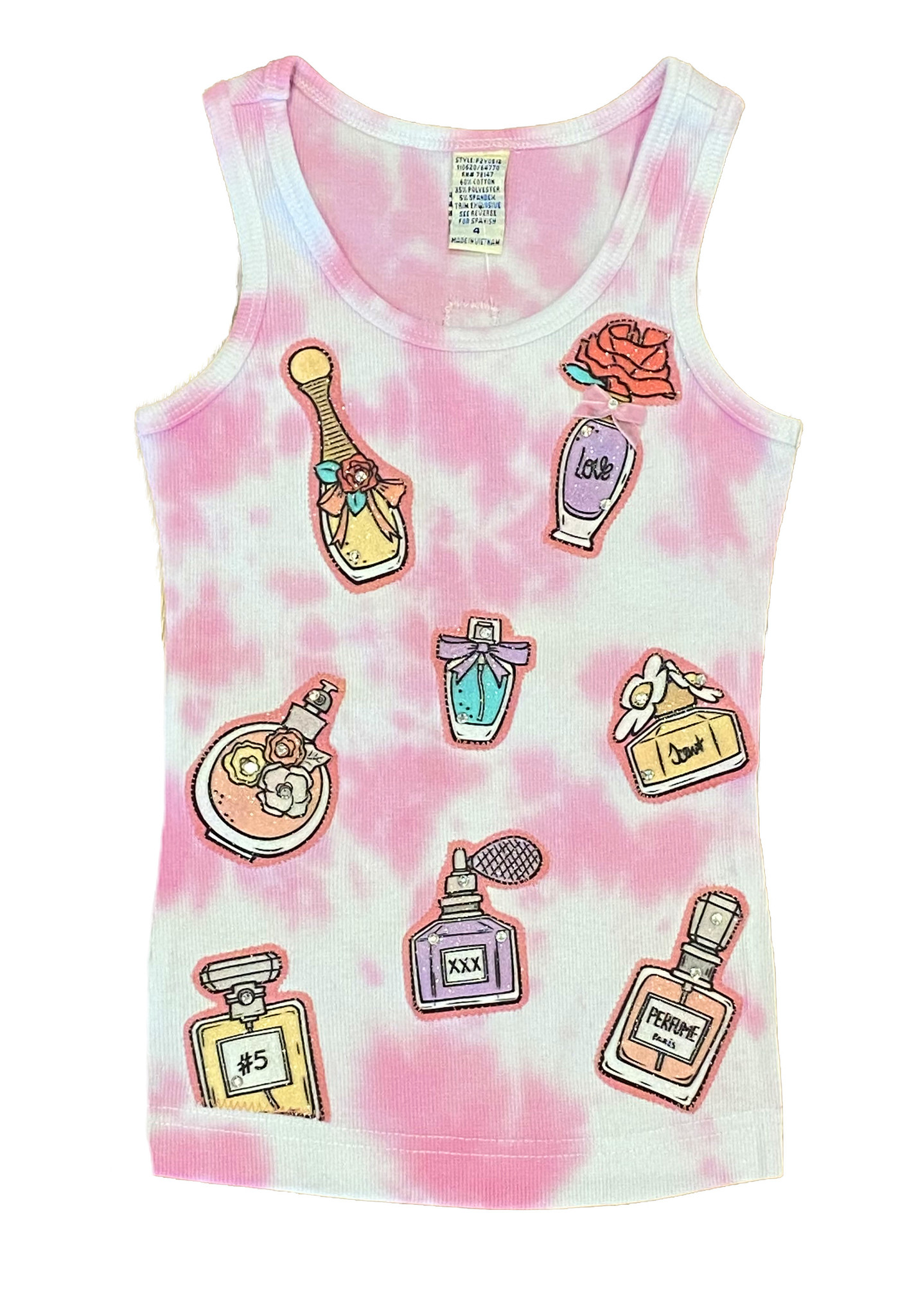 Pink TD Perfume Bottle Tank Top